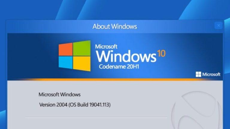 Windows 10 update 2004